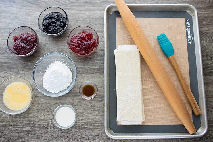 Easy Breakfast Pastries Ingredients