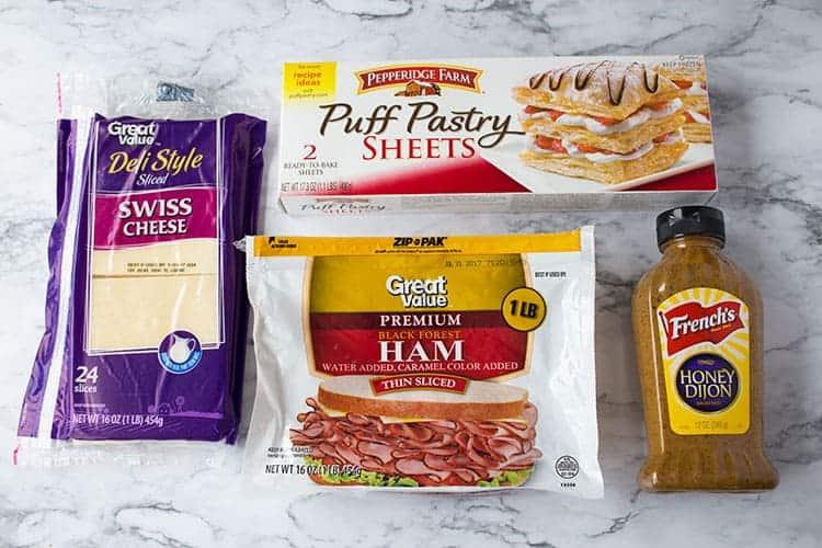 easy ham cheese sandwich