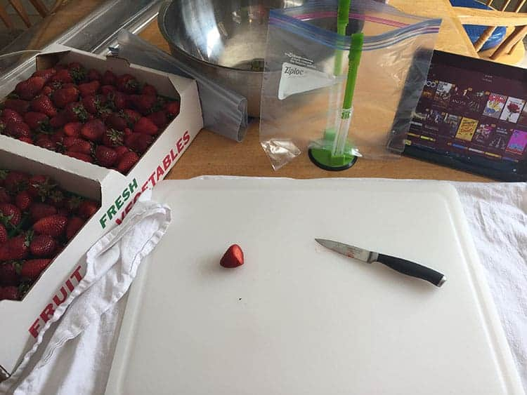 strawberries for the freezer