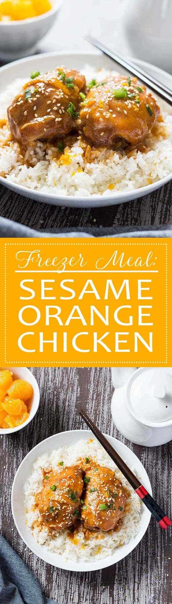Freezer Meal: Sesame Orange Chicken | This easy freezer meal is a spin on a classic Chinese take-out dish, but without the take-out hassle or the take-out price!