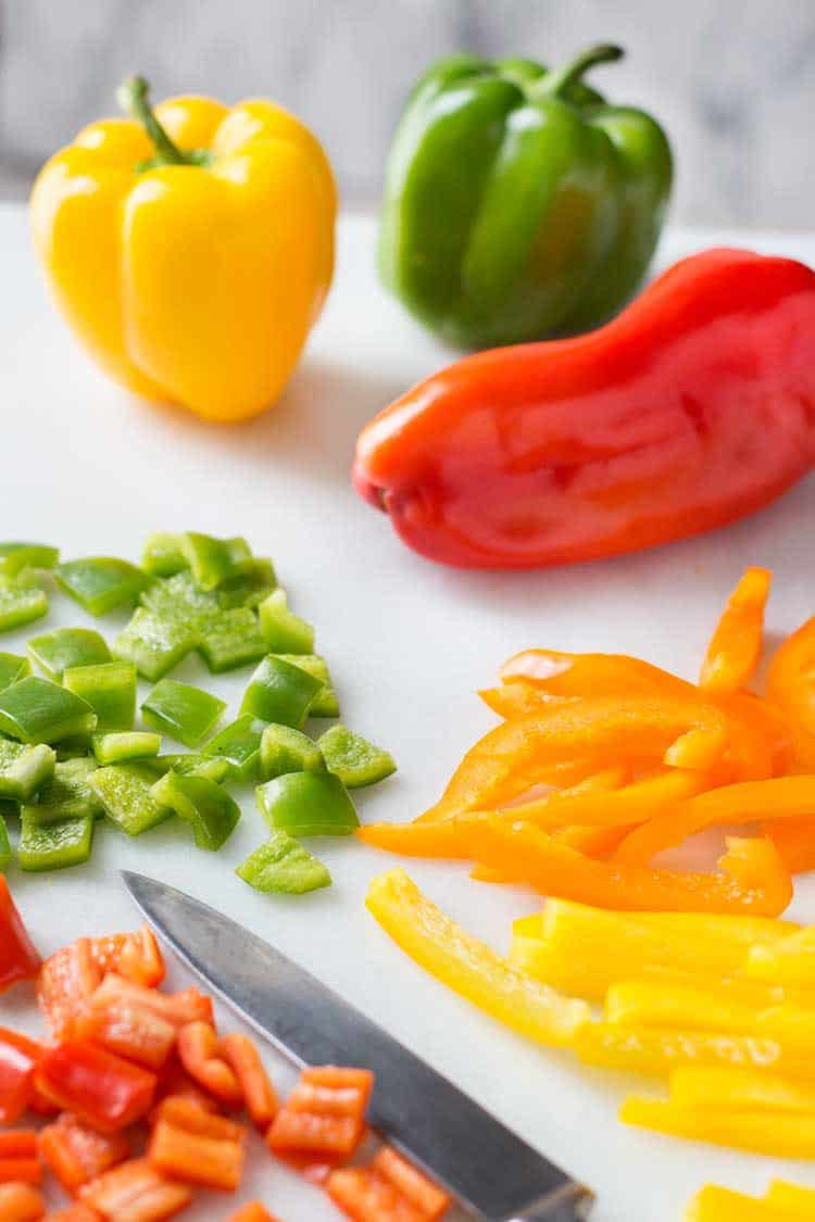 Freezing Bell Peppers Chopped Green