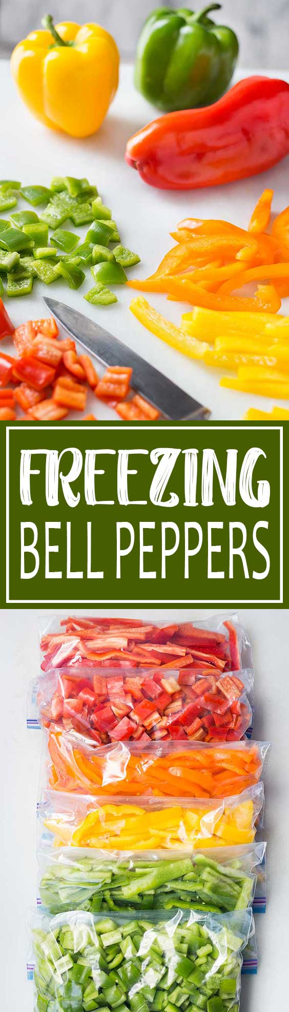Freezing Bell Peppers Pin