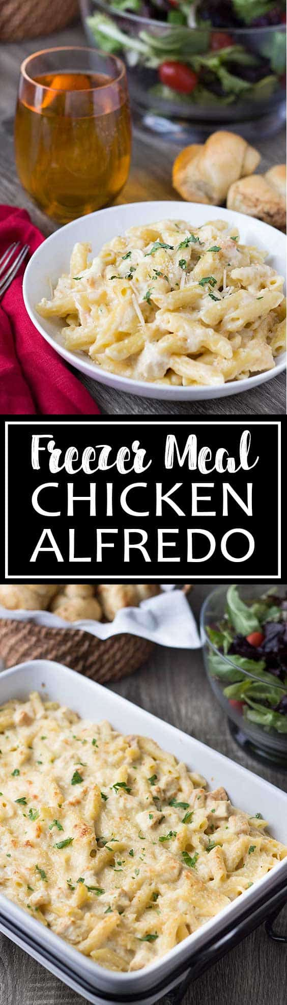 Freezer Meal: Chicken Alfredo Bake